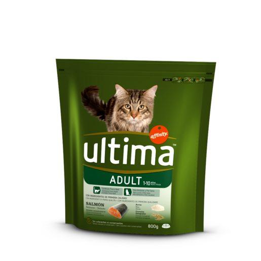 ULTIMA Alimento Seco Para Gato Adulto Salmão 800 g