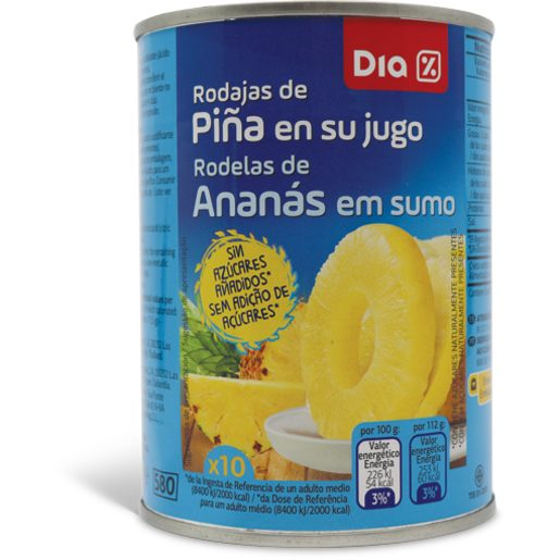 DIA Rodelas de Ananás Em Sumo 565 g