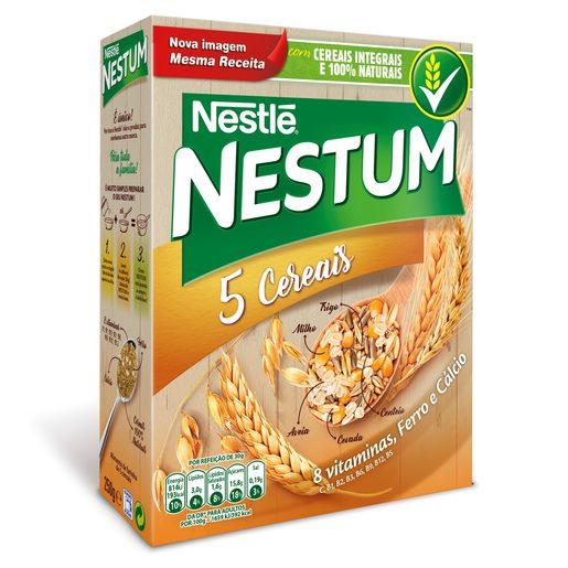 NESTUM 5 Cereais com Cereais Integrais Nestlé 250 g