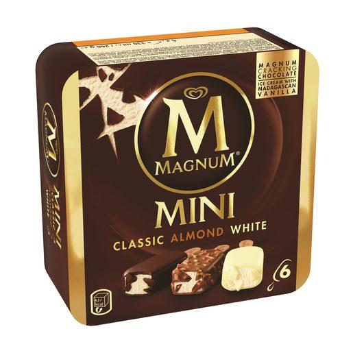 MAGNUM Gelados Multipack Magnum Mini Clássico, Amêndoas e Branco 6x55 ml