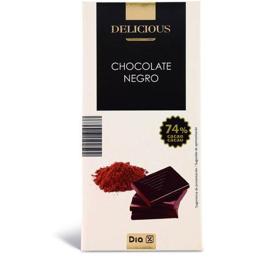 DIA DELICIOUS Chocolate Negro 74% Cacau 100 g