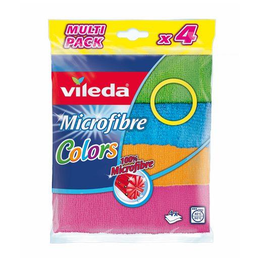 VILEDA Pano Microfibras Colors 4 Un