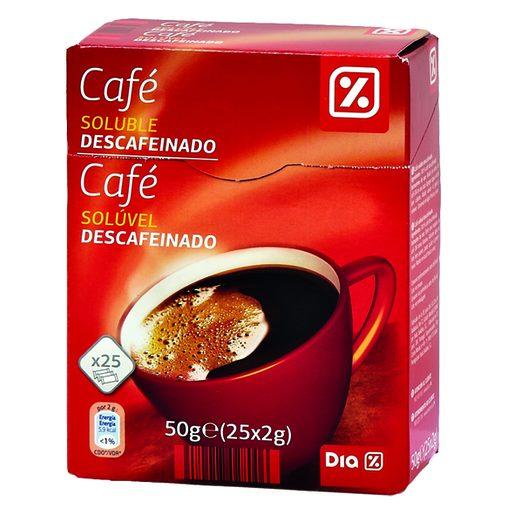 DIA Café Soluvel Descafeinado Sticks 25 Un