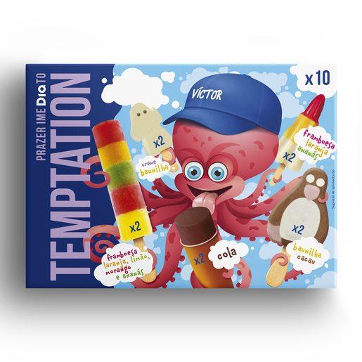 TEMPTATION Sortido de Gelados Infantil 6x110 ml
