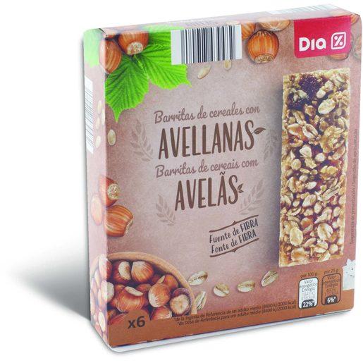 DIA Barritas de Cereais de Avelã 150 g