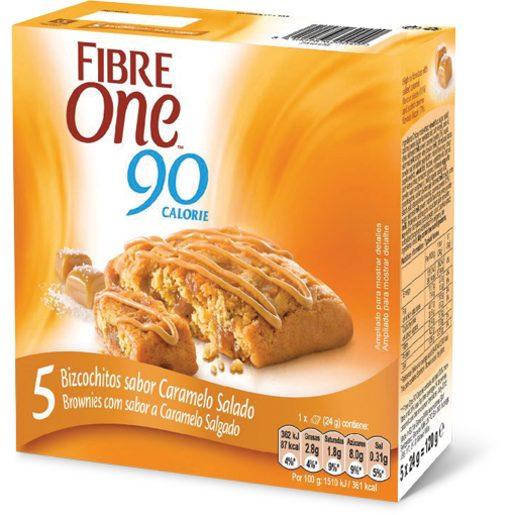 FIBRE ONE Bolacha Brownie Caramelo Salgado 5x24 g