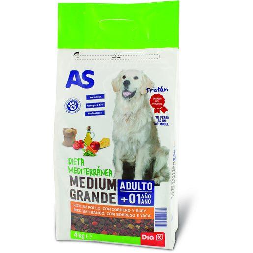 AS Alimentação Seca Para Cão Menu Top Fit 4 kg