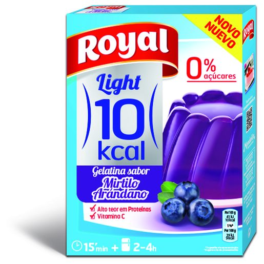 ROYAL Gelatina de Mirtilo Light 10Kcal 31 g