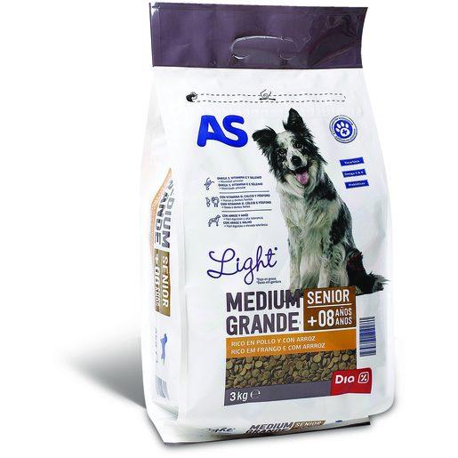 AS Alimentação Seca Para Cão Menu Senior 3 kg