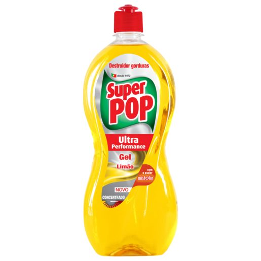 SUPER POP Detergente Manual Loiça Ultra Performance Gel Limão 700 ml