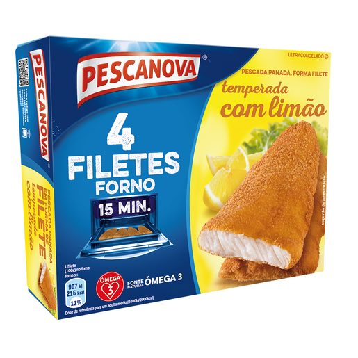 PESCANOVA Filetes de Pescada Panados com Limão 400 g