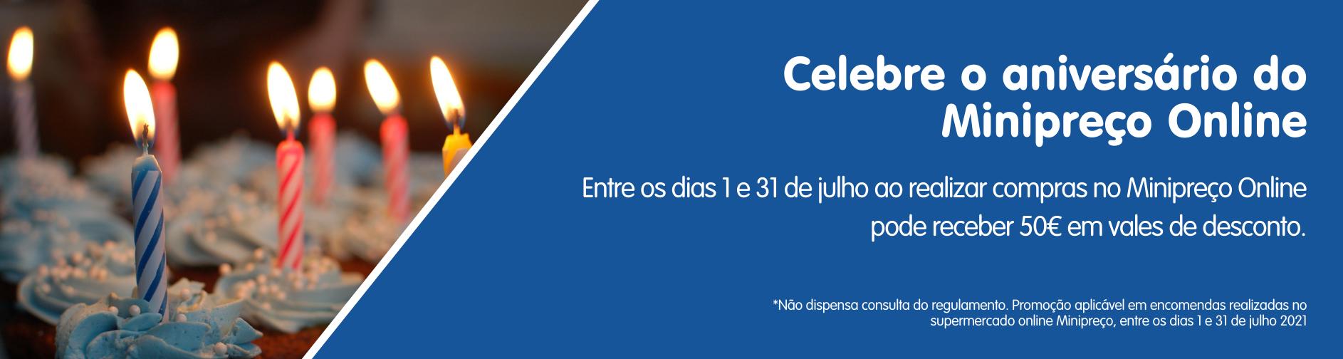 Celebre o aniversário do Minipreço Online
