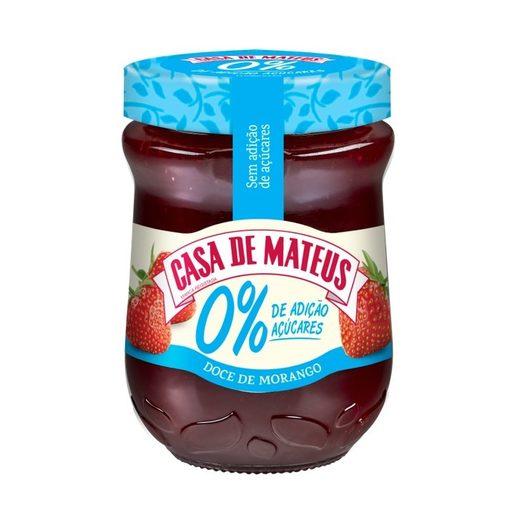 CASA DE MATEUS Doce De Morango 0% Açúcares 280 g