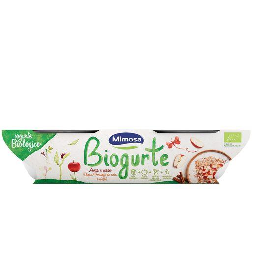 MIMOSA Biogurte Sólido Aveia e Maçã 2x115 g
