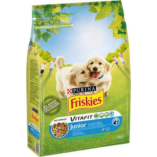 FRISKIES Alimento Cão Júnior Frango e Vegetais 3 kg