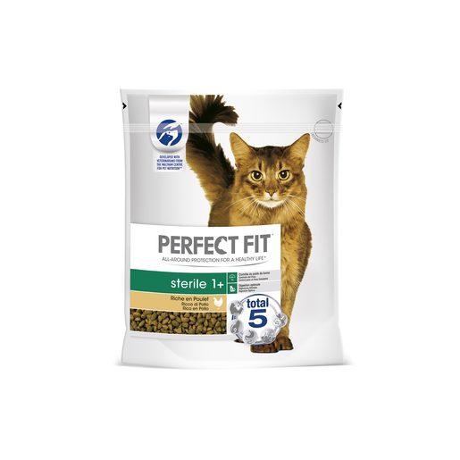 PERFECT FIT Alimentação Seca Para Gato Esterelizado Galinha 1,4 kg