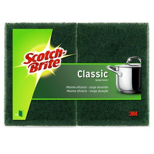 SCOTCH-BRITE Esfregão Fibra Verde Com Esponja 2 un