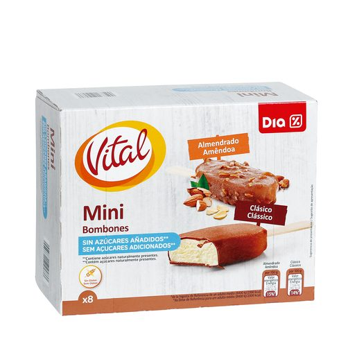 DIA VITAL Gelados Multipack Mini Bombones Amêndoas / Clássico 400 ml