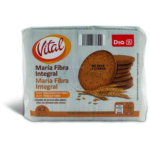 DIA VITAL Bolachas Maria de Fibra Integral 2x200 g