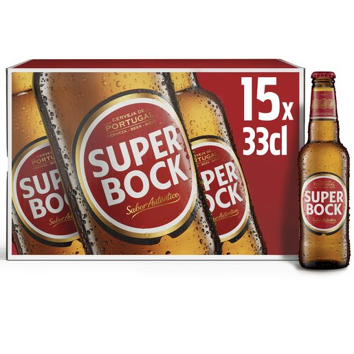 SUPER BOCK Cerveja Com Álcool 15x330 ml