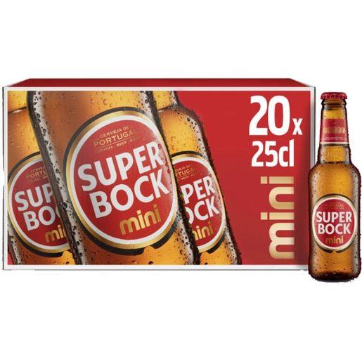 SUPER BOCK Cerveja com Álcool 20x250 ml
