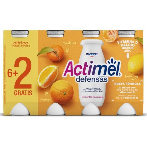 ACTIMEL Frutos Citricos 8x100 g