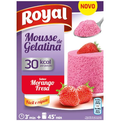 ROYAL Mousse Gelatina Morango  31 g