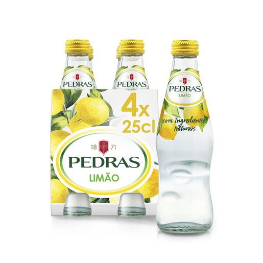 PEDRAS Água Com Gás Sabor Limão 4x250 ml