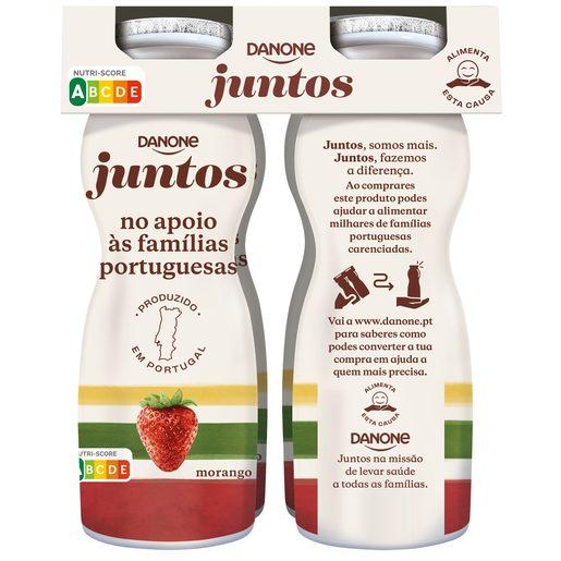 DANONE JUNTOS Iogurte Líquido Sabor Morango 4x156 g