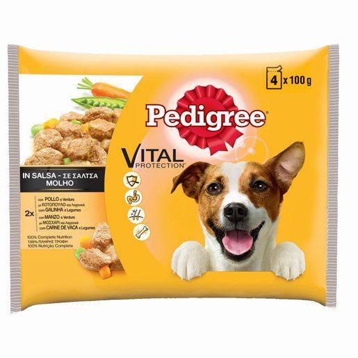 PEDIGREE Alimento Húmido Para Cão com Galinha e Legumes 4x100 g