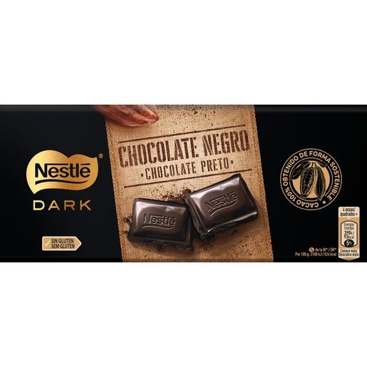 NESTLÉ Tablete Chocolate Negro Extrafino 125 g