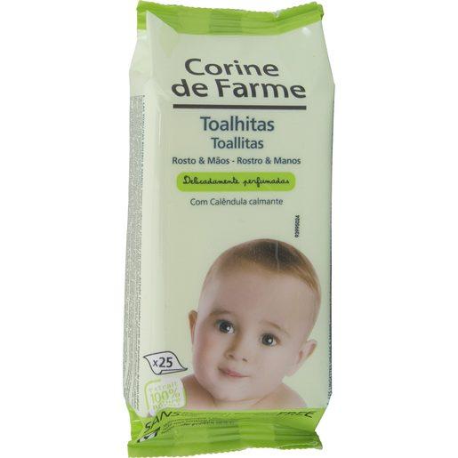 CORINE DE FARME Toalhitas Rosto e Mãos Bebé 25 un
