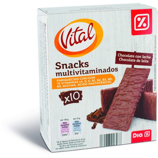 DIA VITAL Snacks Multivitaminados com Chocolate de Leite 200 g