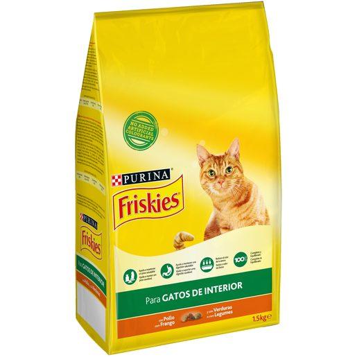 FRISKIES Ração para Gato Adulto de Interior Purina 1,5 kg
